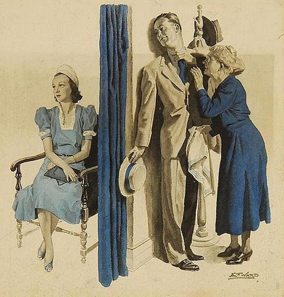 Edmund Franklin Ward (1892 – 1990) Getting Ready For A Date