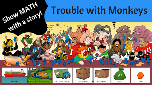 Trouble with Monkeys! #math concept (place value) kids book
