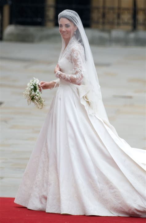 Sarah Burton for Alexander McQueen designs Kate's royal
