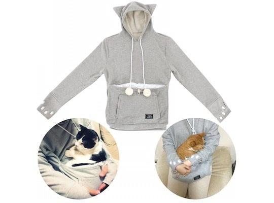 Mewgaroo Hoodie Pet Pouch Sweatshirt
