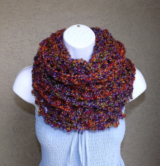 Crochet curly winter infinity scarf, fashion fall circle scarf, winter loop scarf, fashion infinity scarf 2013