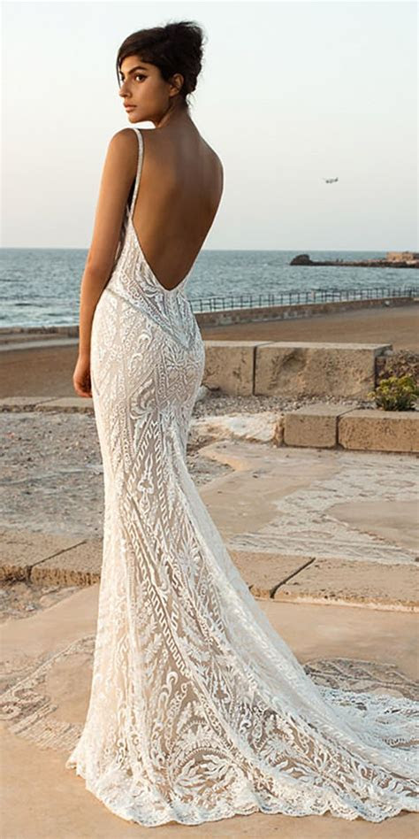21 Fantastic Lace Beach Wedding Dresses   Wedding   Lace