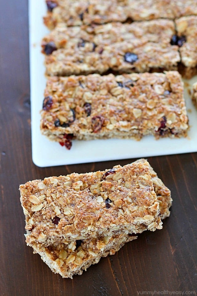 Homemade Healthy Granola Bars - Yummy Healthy Easy