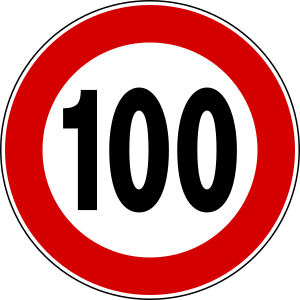 maximum speed limit 100 km/h