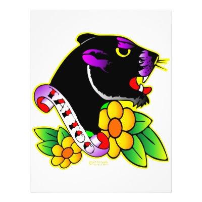 black panther tattoo. Black Panther Tattoo Flyer