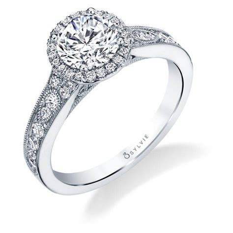 Quinn   Vintage Inspired Halo Engagement Ring   Sylvie