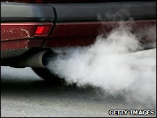 Emissions from car exhaust (file photo)