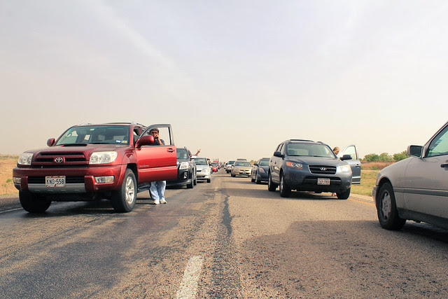 Traffic from the fire