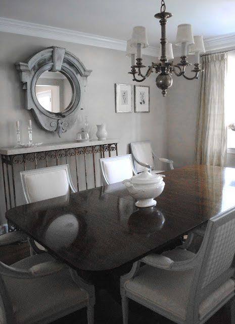 ♅ Dove Gray Home Decor ♅  traditional swedish dining room