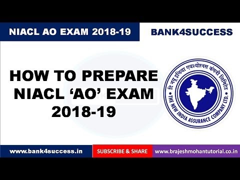 NIACL AO 2018 Preparation - Syllabus, Exam Pattern, Books and Preparation Tips