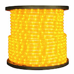 American Lighting ULRL-LED-YE-150 0.5 in. LED 2-Wire 120V Directional Yellow Rope Light