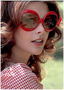 Colorized Sunglasses - Woman Wearing Colorized Sunglasses