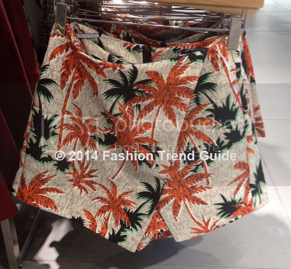 Topshop tropical print skort