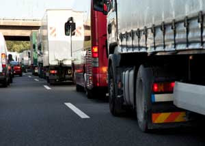 Diesel exhaust fumes in traffic