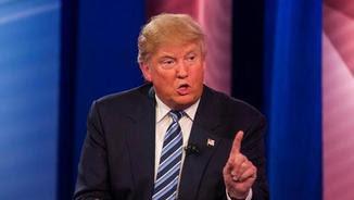 Donald Trump, durant l'entrevista a la cadena CNN (EFE)