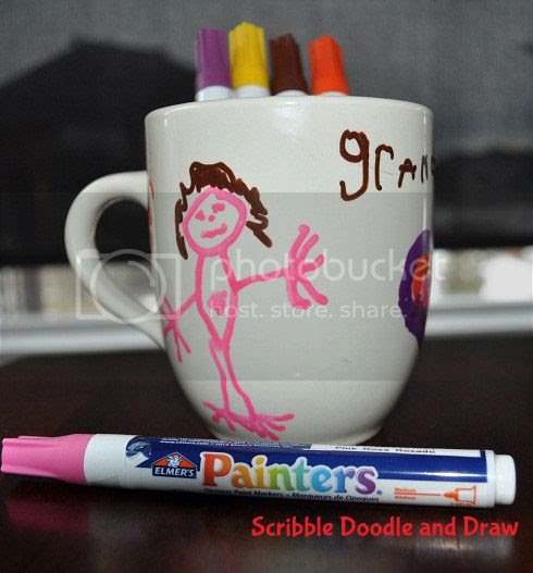 Have kids draw on a mug for mother's day