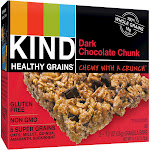 KIND Healthy Grains Dark Chocolate Chunk, Gluten Free Granola Bars - 5ct