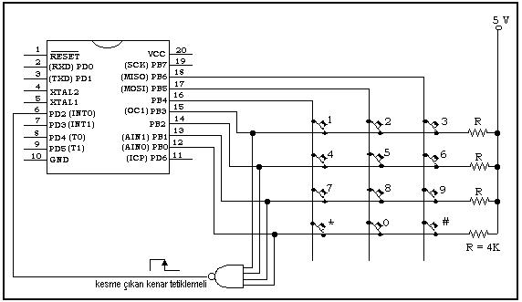 Kết nối bàn phím với vi điều khiển