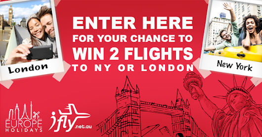 Enter here for your chance to win return flights for 2 people!