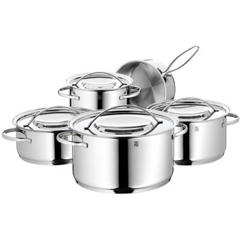 Kochtopfset WMF Gala Plus 4-teilig mit Deckel.