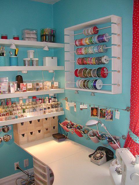 Interações Crafty sala de artesanato
