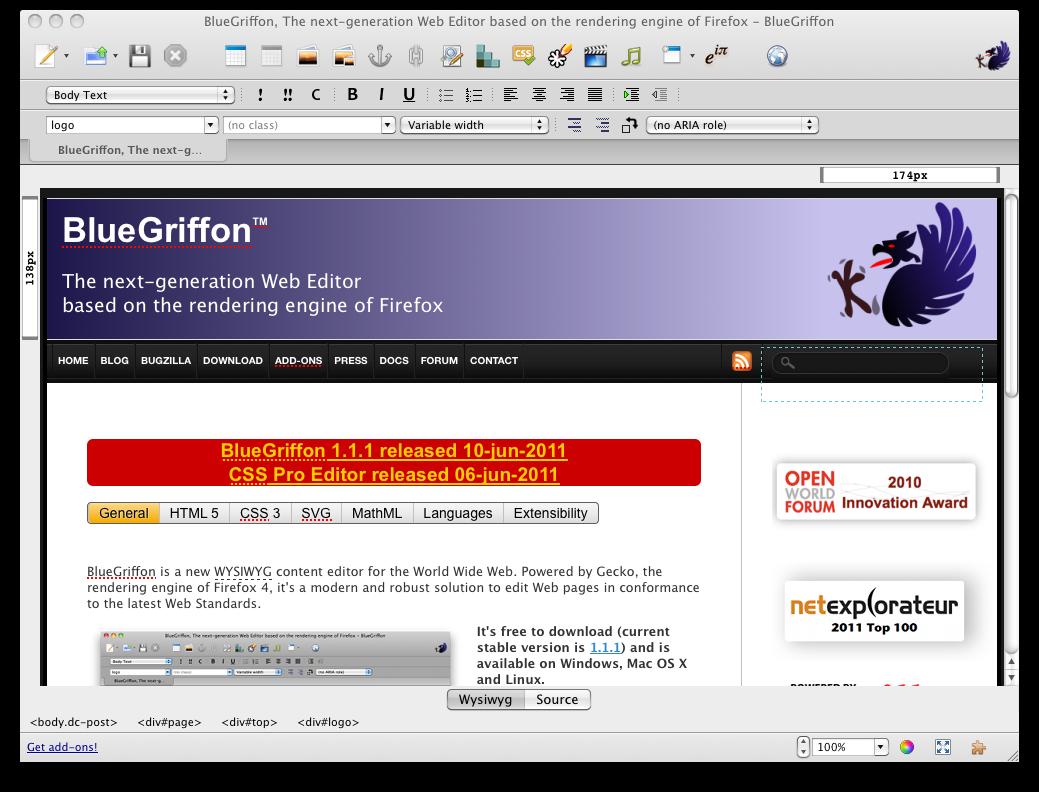 BlueGriffon 1.5.1