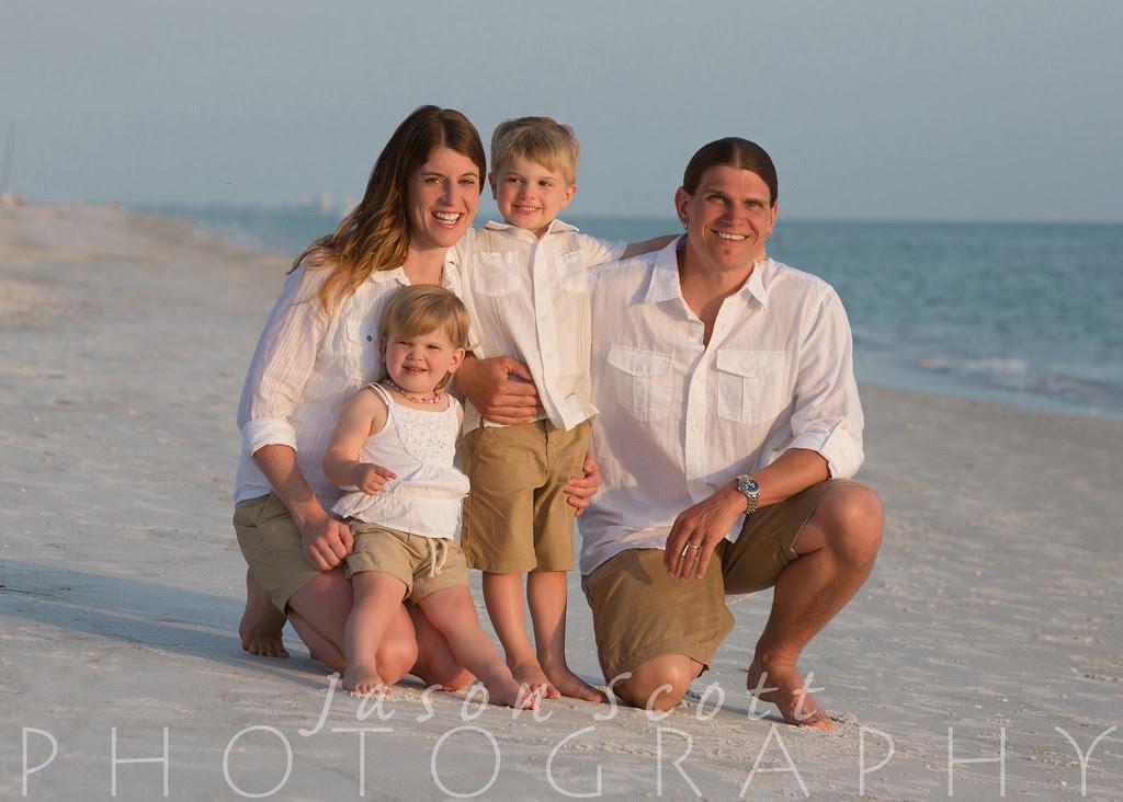 Family Beach Portraits on Siesta Key, Longboat Key, Englewood Beach, Venice Beach, or Anna Maria Island by Jason Scott Photography
