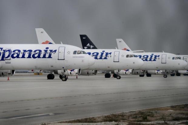 Companhia aérea Spanair encerra operações JOSEP LAGO/AFP