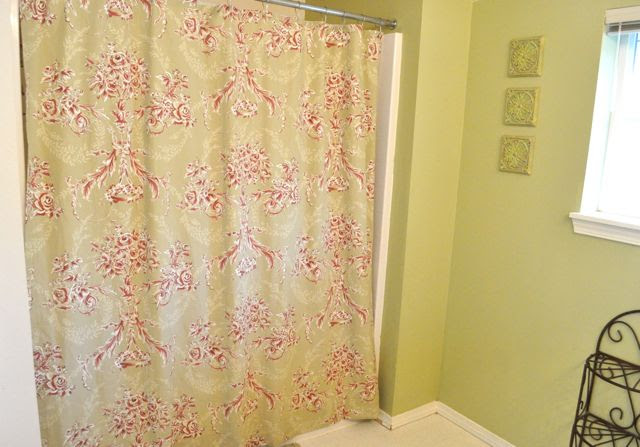 Turn a Bed Sheet into a Shower Curtain - Make and Takes