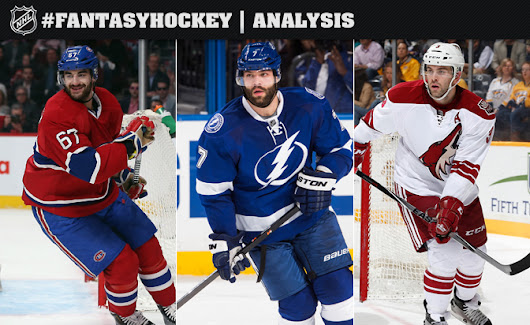 Top fantasy hockey category specialists in standard Yahoo leagues
