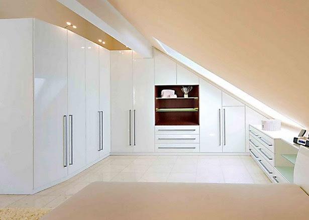einrichtung schlafzimmer mit dachschräge