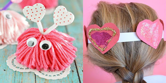 28 Valentine's Day Crafts for Kids - Fun Heart Arts and Crafts Projects for Toddlers and Kids