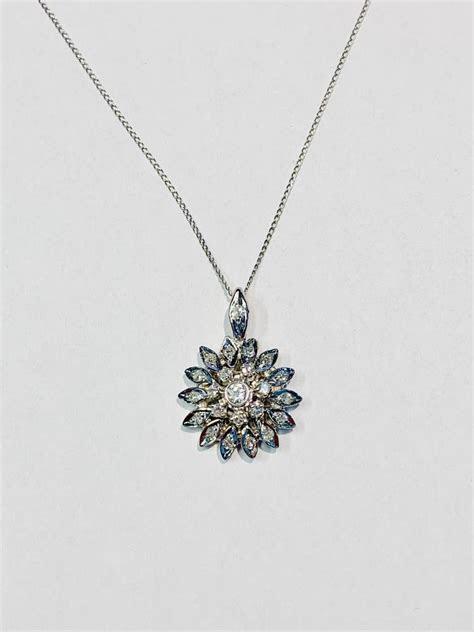 Vintage diamond cluster pendant 1/3 carat  Freedman