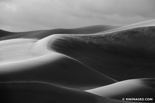Photo Print of GREAT SAND DUNES NATIONAL PARK COLORADO BLACK AND WHITE Print Framed Picture Fine Art Photography Large Print Wall Decor Art For Sale Stock Image Photo Photograph High Resolution Digital Download Aluminum Metal Acrylic Canvas Framed Photo Print Buy Photo by Robert Wojtowicz Fine Art Photographer
