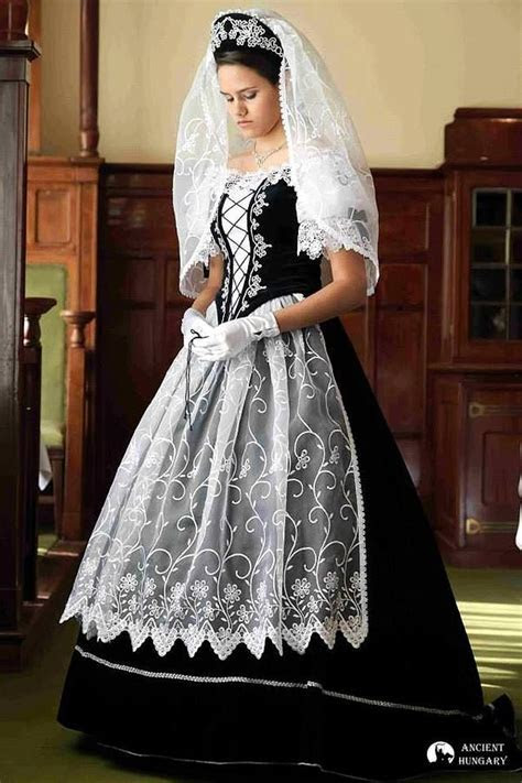 Hungarian traditional wedding dress, absolutely gorgeous