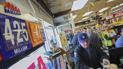 Mega Millions jackpot hits $400 million, second-largest in lottery's history