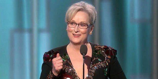 Meryl Streep discursa ao receber o prêmio Golden Globe 2017 (Foto: Divulgação)