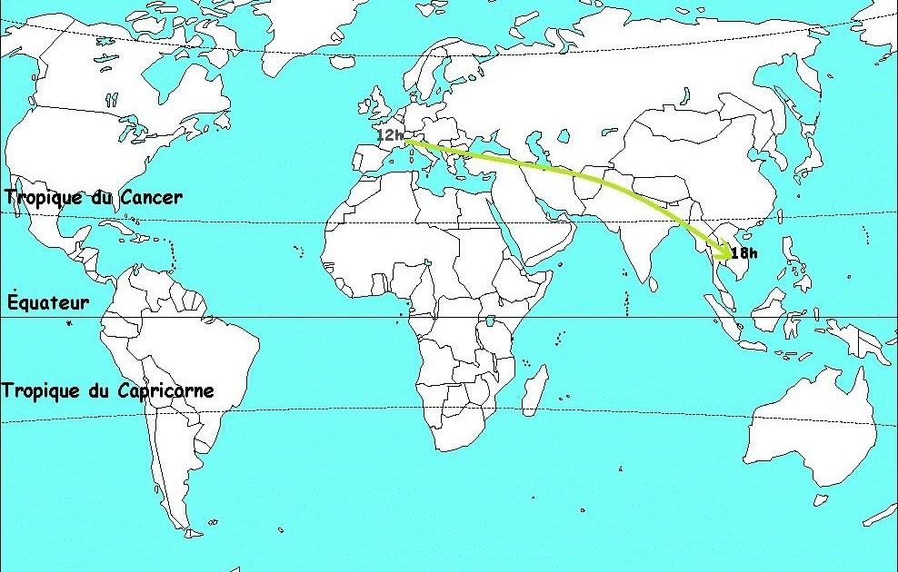 Carte Du Monde Avec Equateur.25 Nouveau Carte Du Monde Avec Les Tropiques