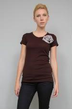 Lia Kes Black Rose Tee Shirt