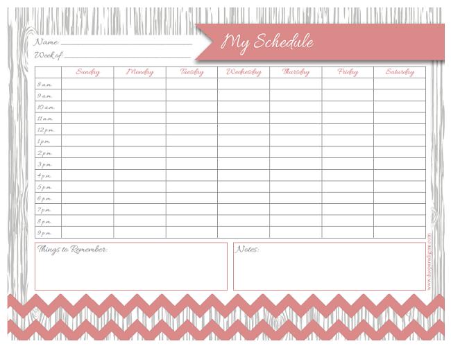 Daily Schedule Free Printable | Daily Agenda Calendar