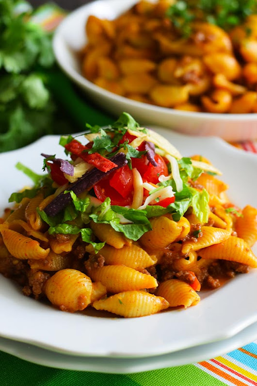 Instant Pot Cheesy Taco Pasta - Soulfully Made