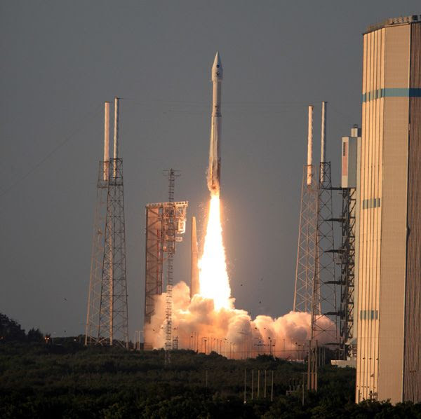 The OSIRIS-REx spacecraft is launched from Cape Canaveral Air Force Station in Florida on September 8, 2016.