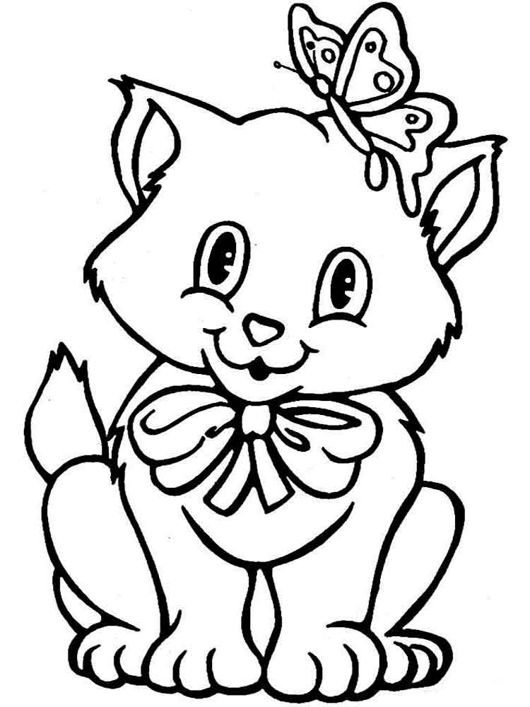 coloring pages animals cats 14