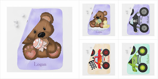 Personalized Baby Blanket Collection