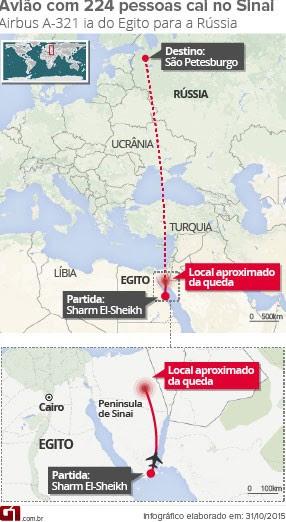 Mapa queda do avião (Foto: Editoria de Arte/G1)