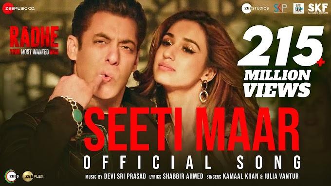 Seeti Maar Lyrics - Radhe | Salman  Khan | LYRICSADVANCE