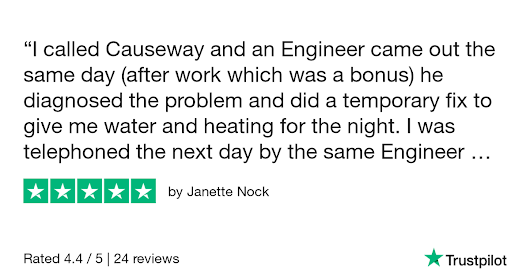 Janette Nock gave Causeway Heating 5 stars. Check out the full review...