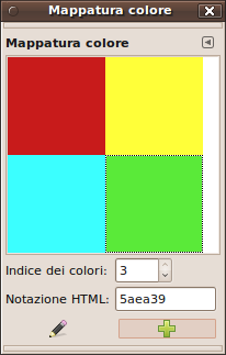 Finestra di dialogo delle mappe di colore