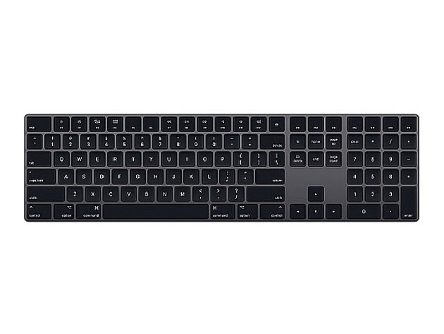 Apple Magic Keyboard with Numeric Keypad - Space Grey (Refurbished) for $119