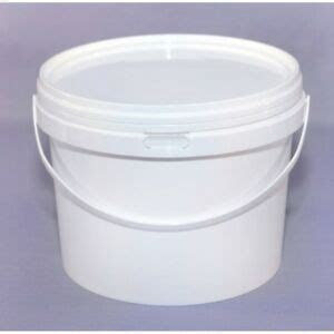 pcswhite ml plastic buckets tubs containers